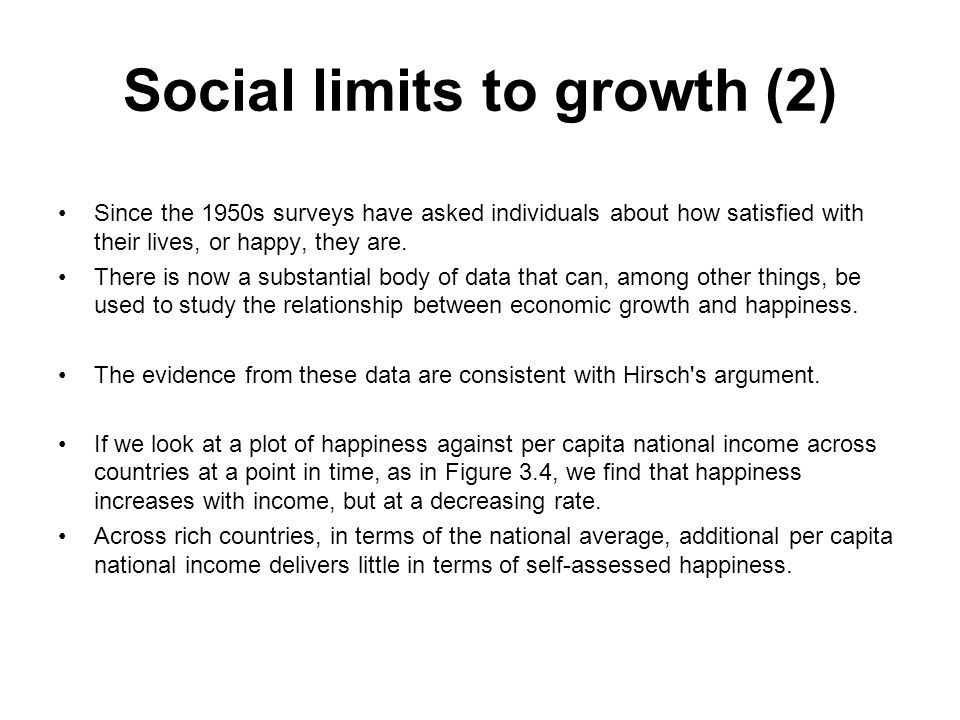 Social limits to growth (2)