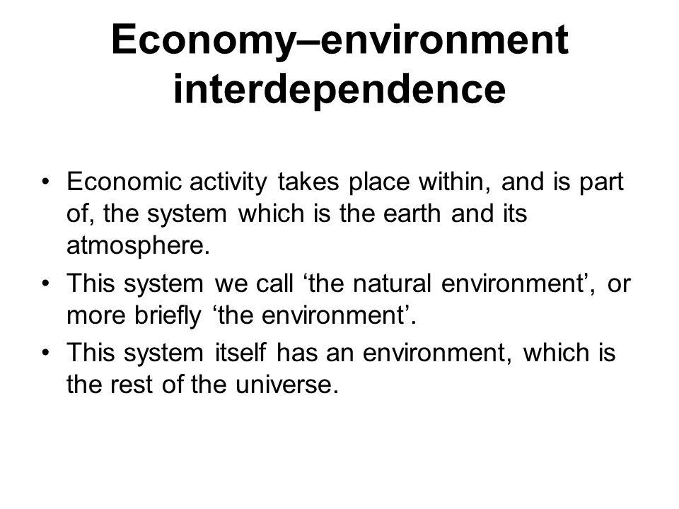 Economy–environment interdependence