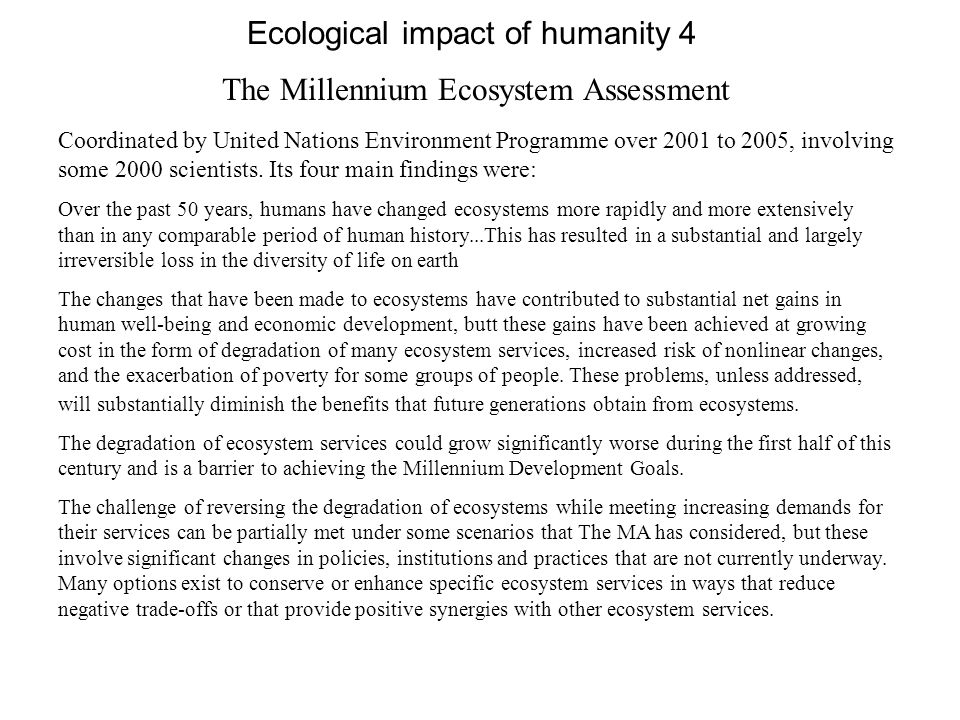 Ecological impact of humanity 4