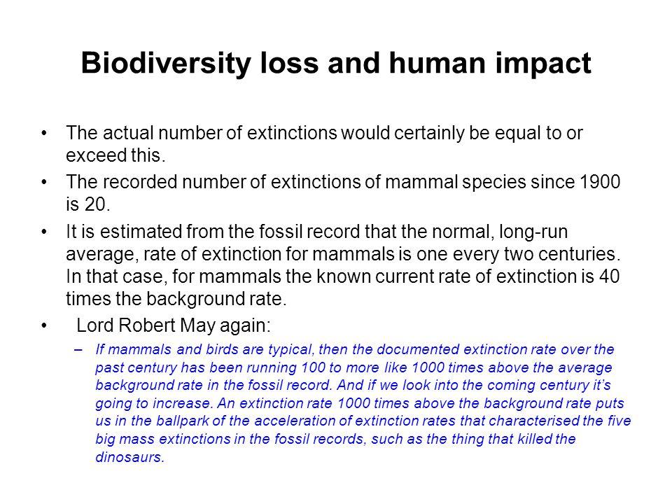 Biodiversity loss and human impact