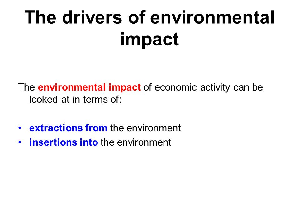 The drivers of environmental impact