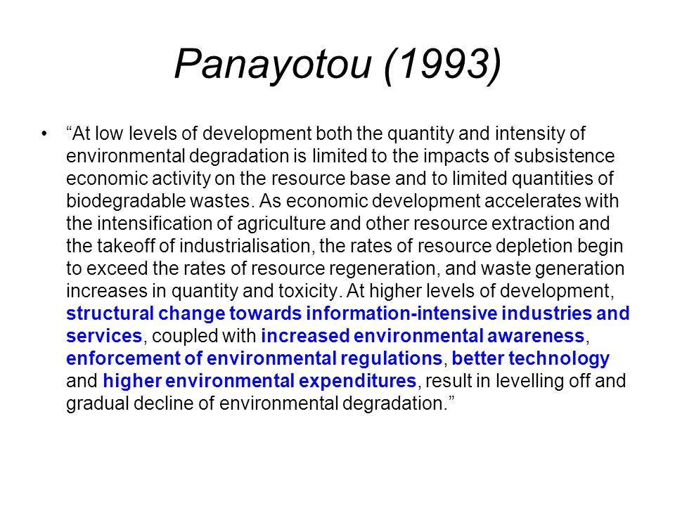Panayotou (1993)