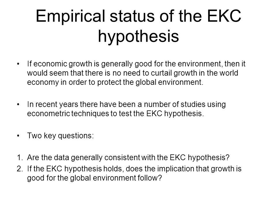 Empirical status of the EKC hypothesis