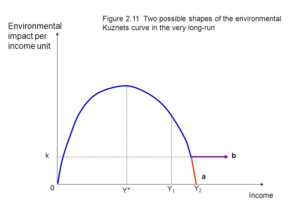 Environmental impact per income unit