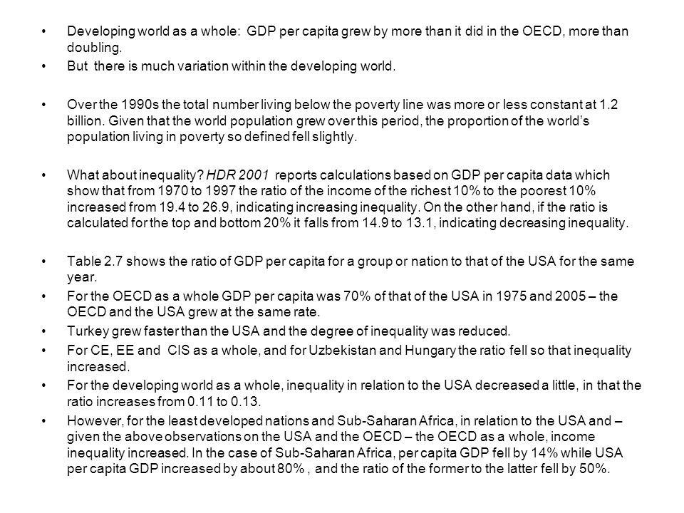 But there is much variation within the developing world.