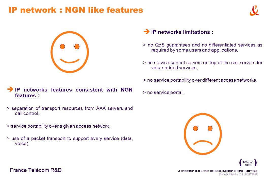 IP network : NGN like features