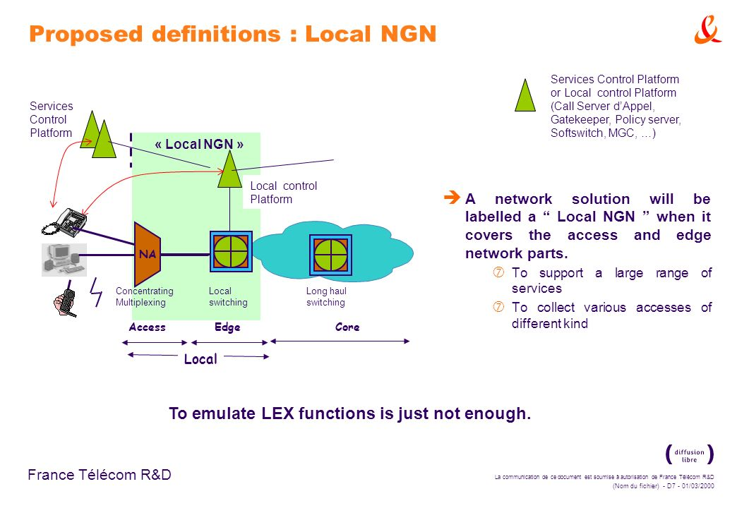 Proposed definitions : Local NGN
