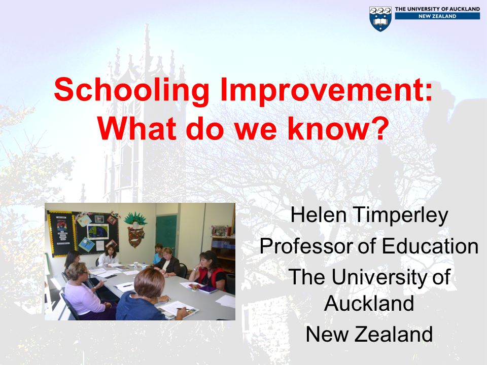 Schooling Improvement: What do we know