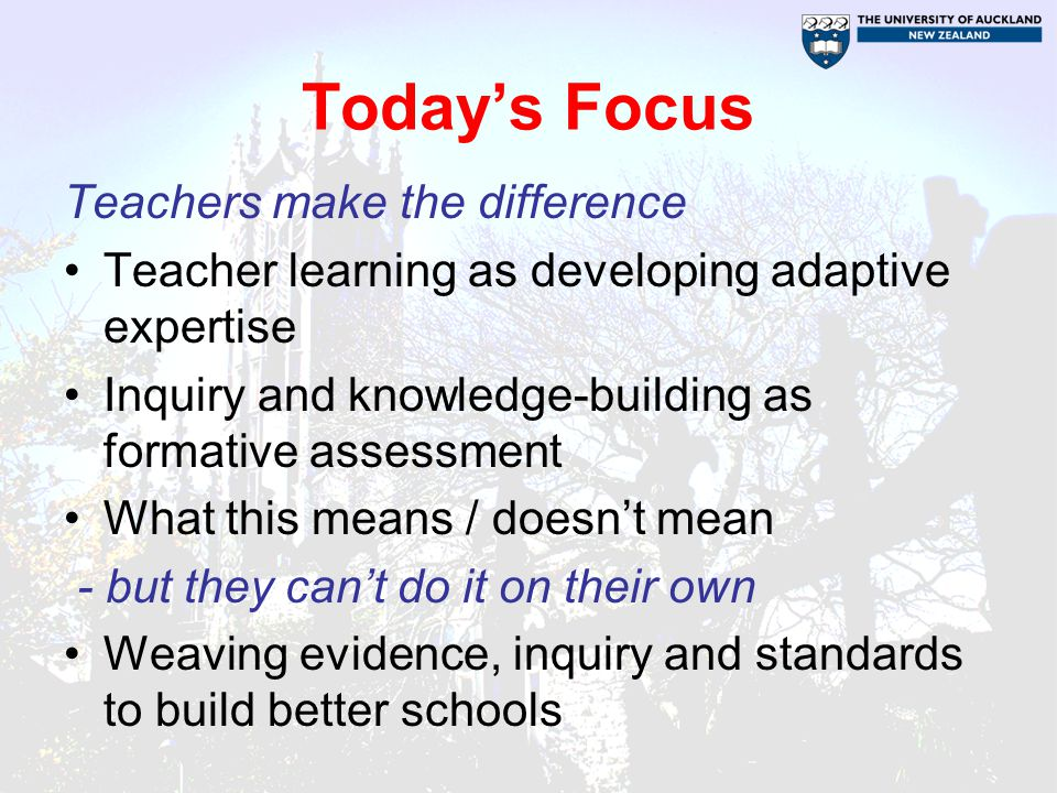 Today's Focus Teachers make the difference