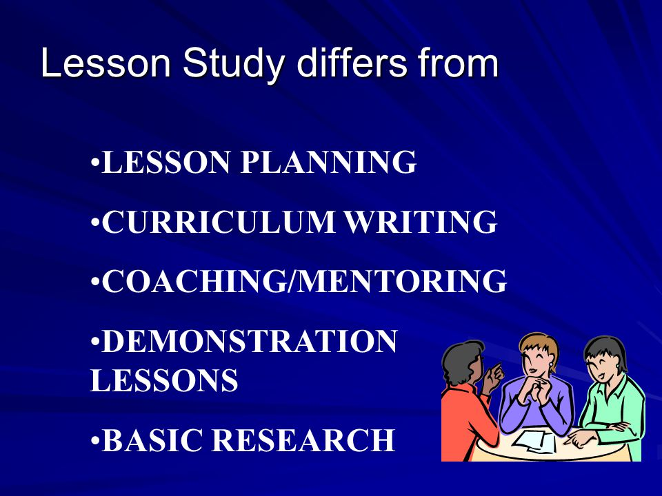 Lesson Study differs from