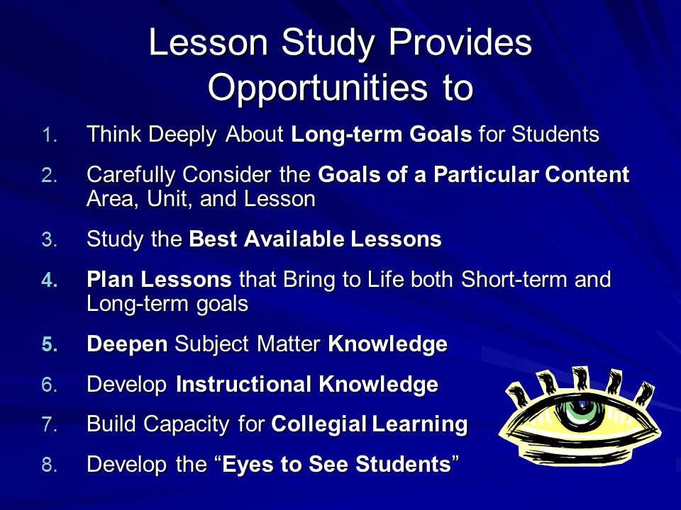 Lesson Study Provides Opportunities to