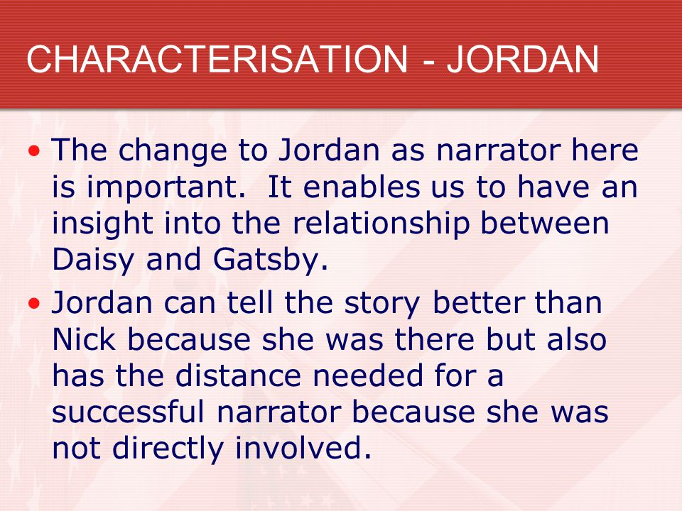 conversation between nick and jordan We've narrowed it down to five key differences between baz  in the movie,  prepare to see nick and chic golfer jordan baker  in the novel, nick is at one of  gatsby's big bashes when he strikes up a conversation with a man.