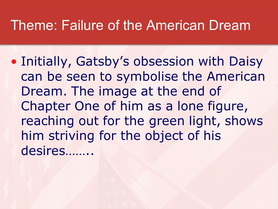 great gatsby failure american dream