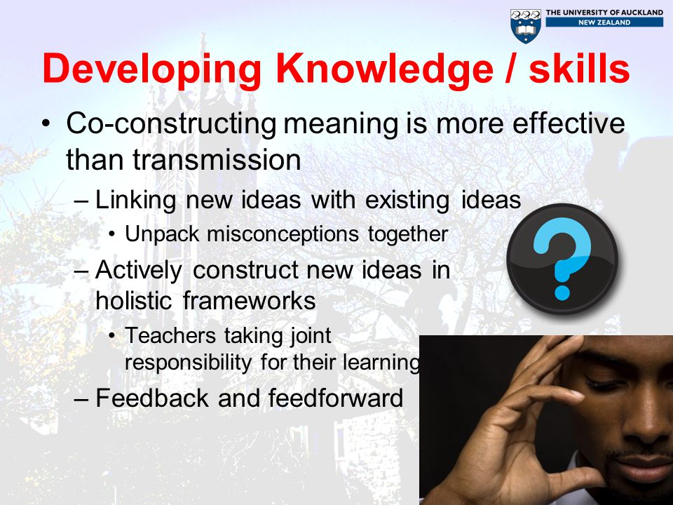 Developing Knowledge / skills