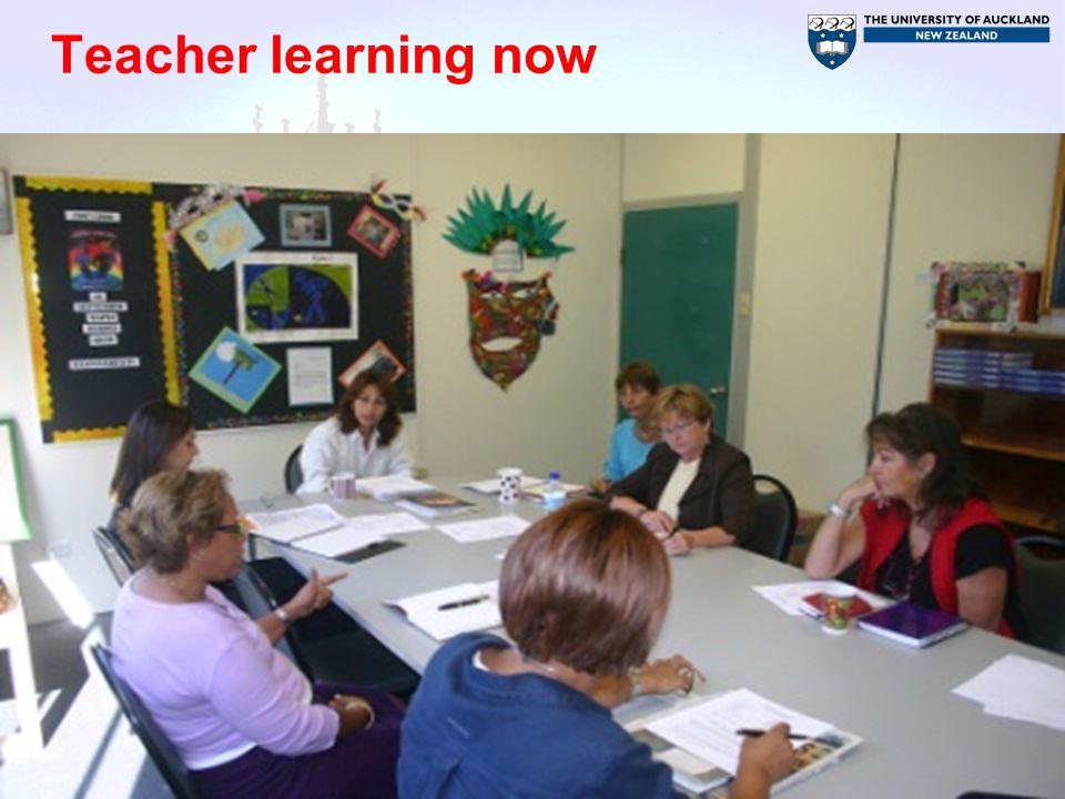 Teacher learning now