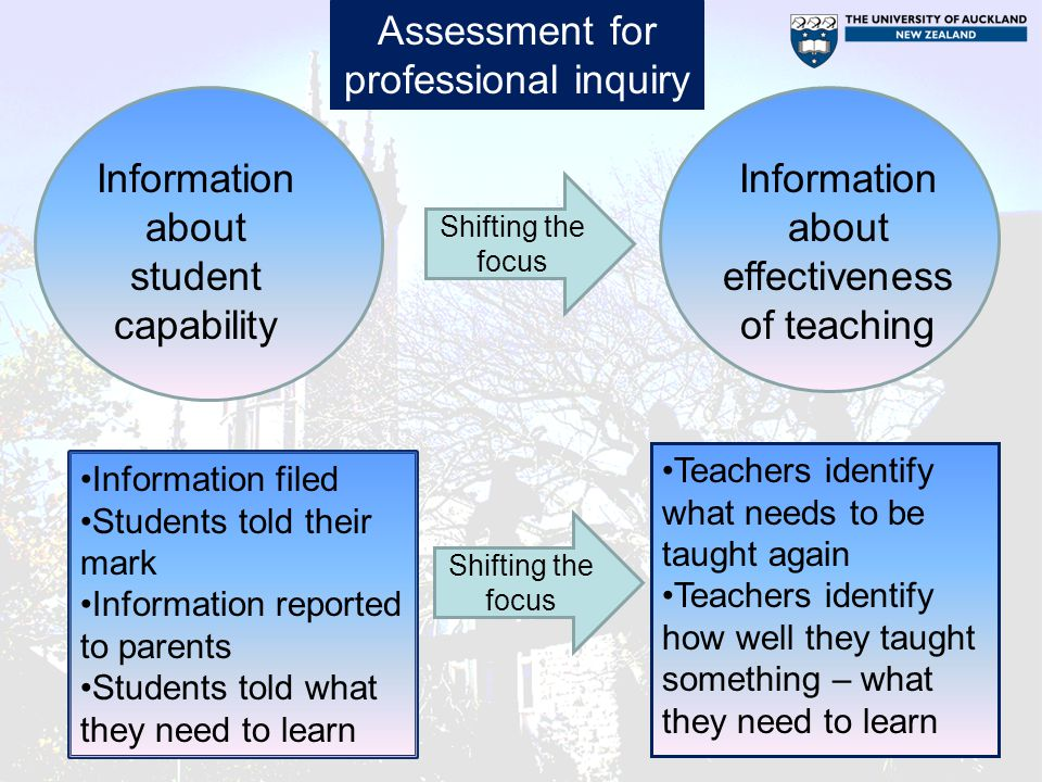 Assessment for professional inquiry
