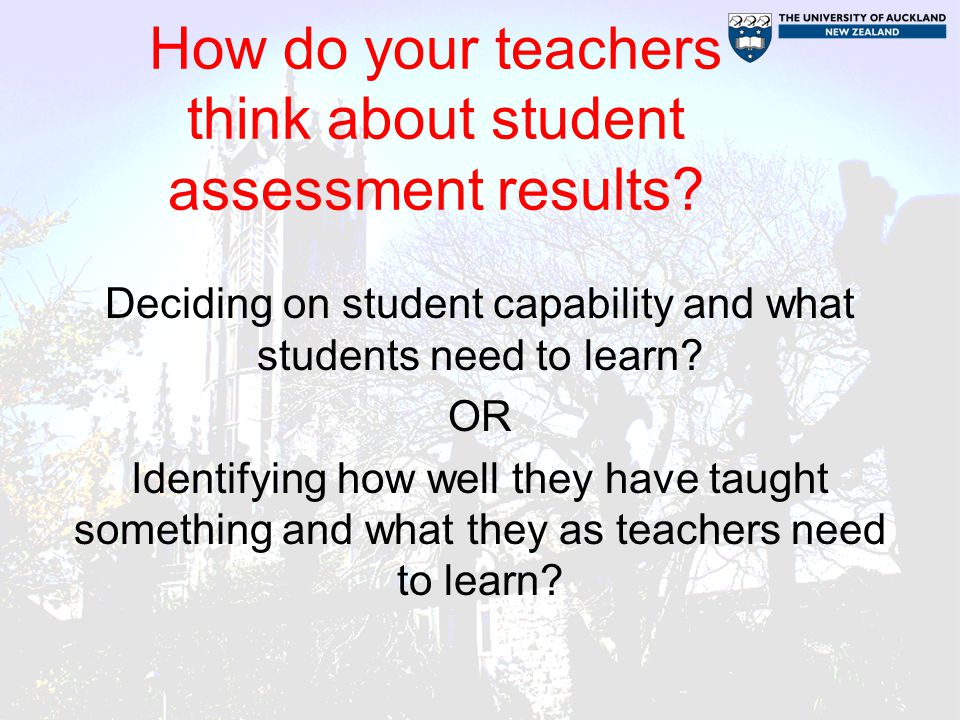 How do your teachers think about student assessment results