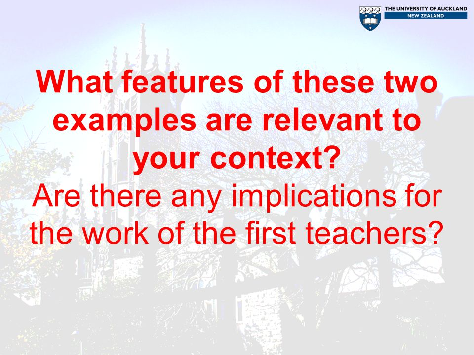 What features of these two examples are relevant to your context