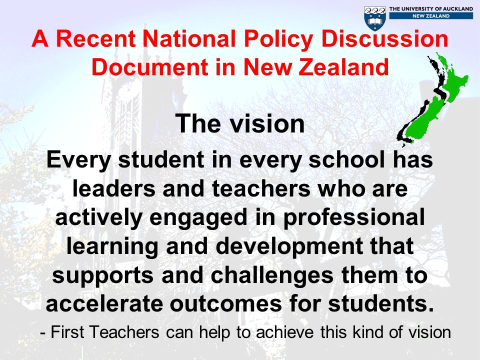 A Recent National Policy Discussion Document in New Zealand