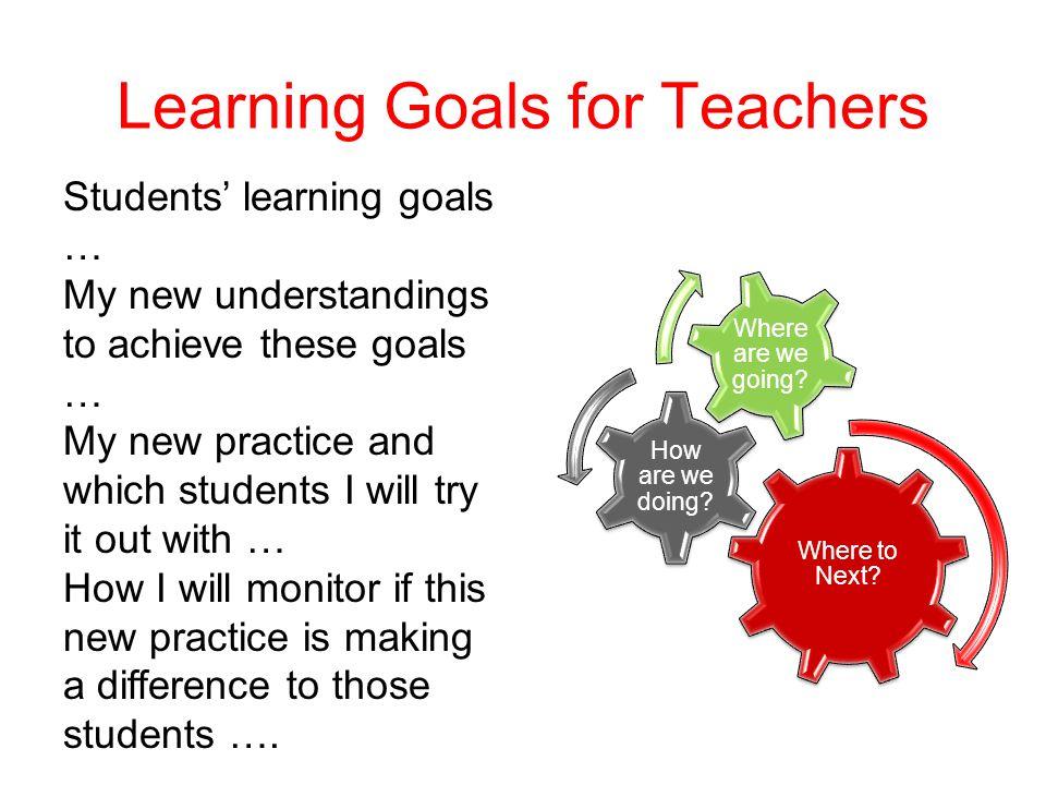 Learning Goals for Teachers