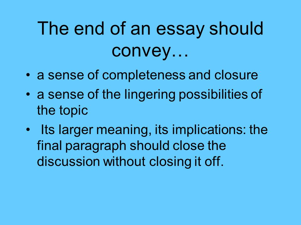 How to edit an essay conclude