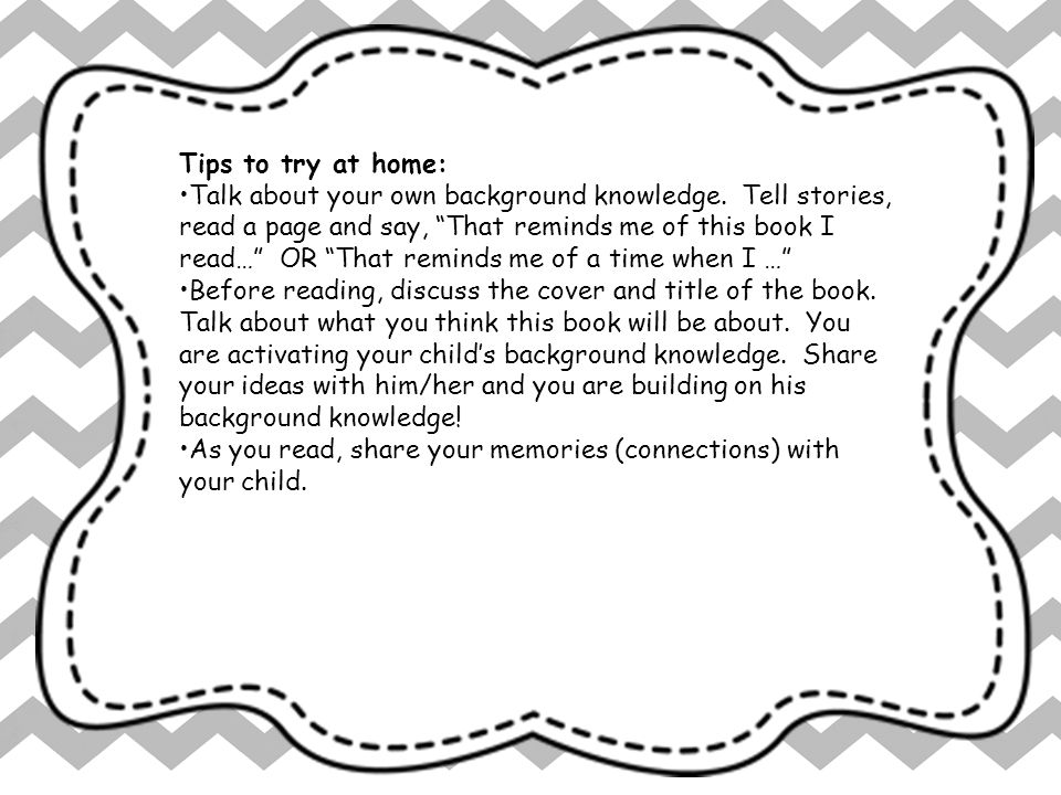 Tips to try at home: