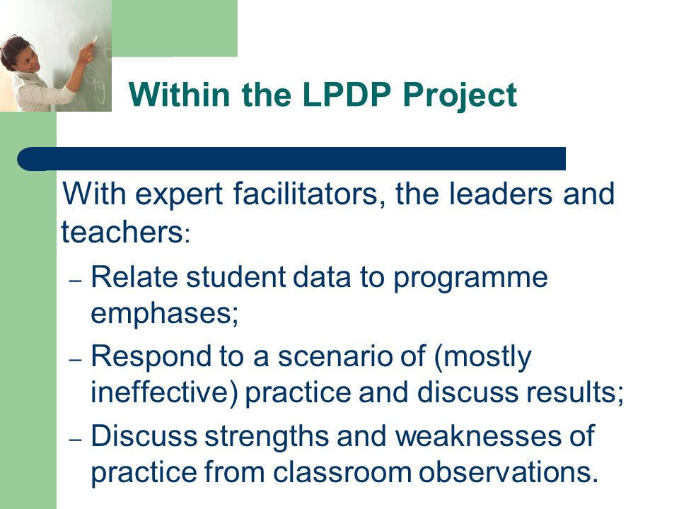 Within the LPDP Project