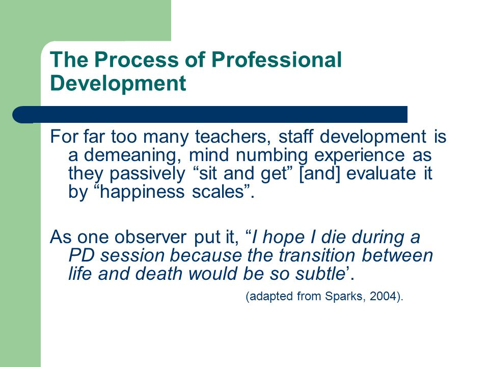 The Process of Professional Development