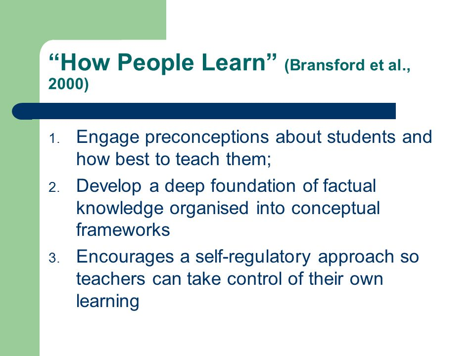 How People Learn (Bransford et al., 2000)