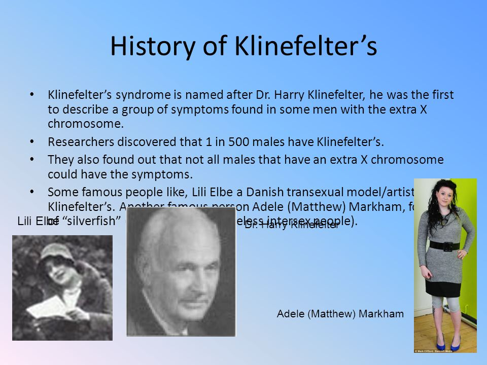 Man With Klinefelter Syndrome