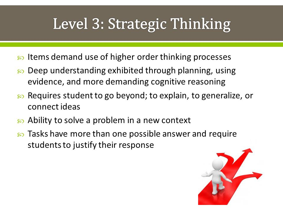 Level 3: Strategic Thinking