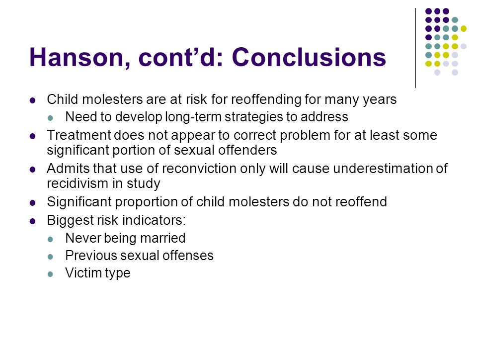 Sexual Offense Recidivism - ppt download