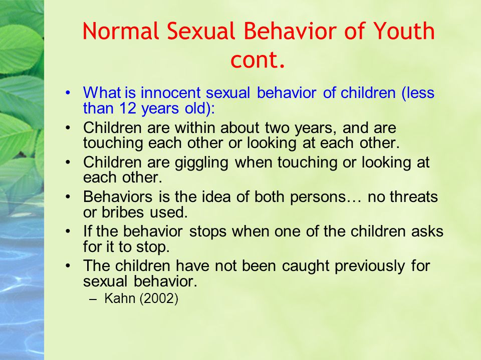 4 Year Old Normal Sexual Behaviour