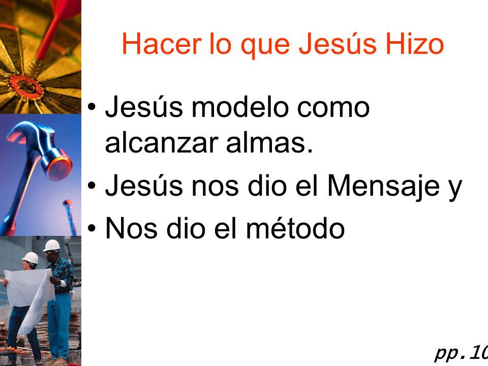 Jesús modelo como alcanzar almas. Jesús nos dio el Mensaje y
