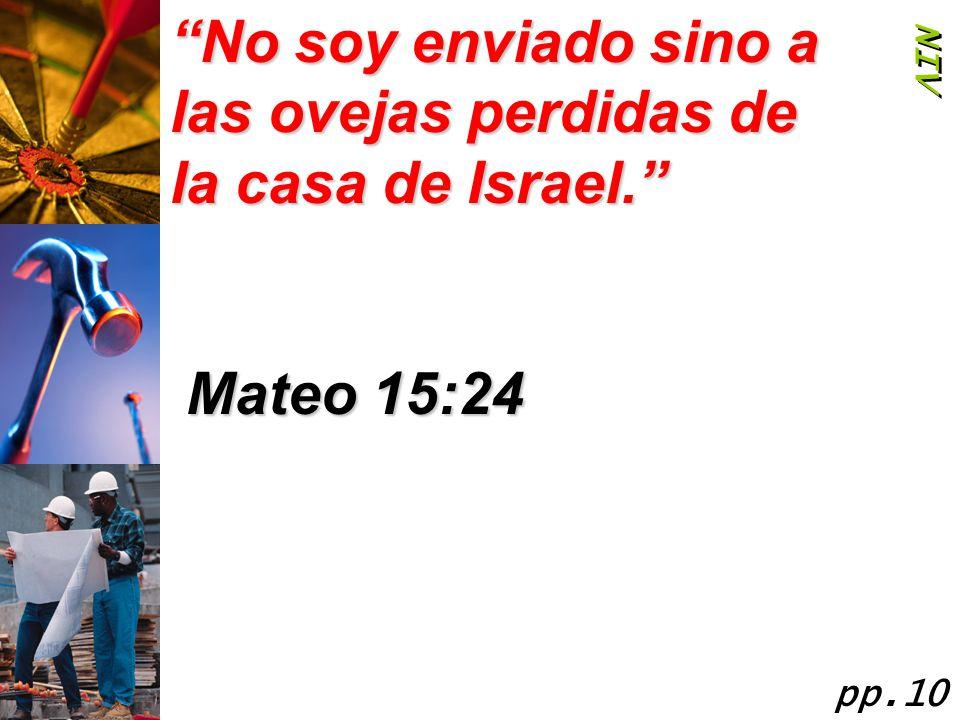 No soy enviado sino a las ovejas perdidas de la casa de Israel.