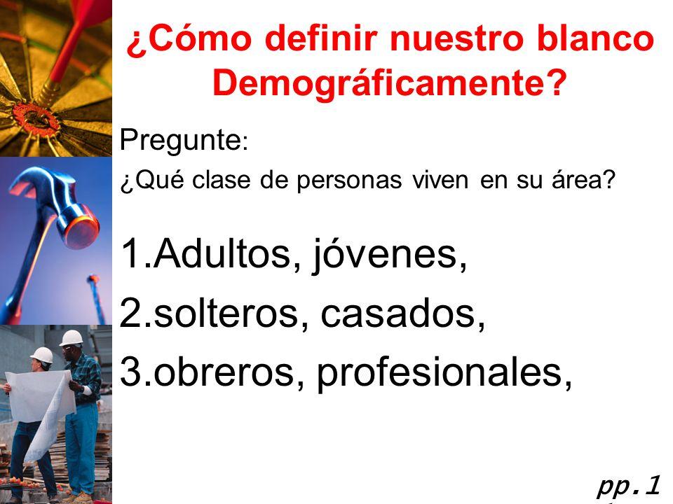¿Cómo definir nuestro blanco Demográficamente