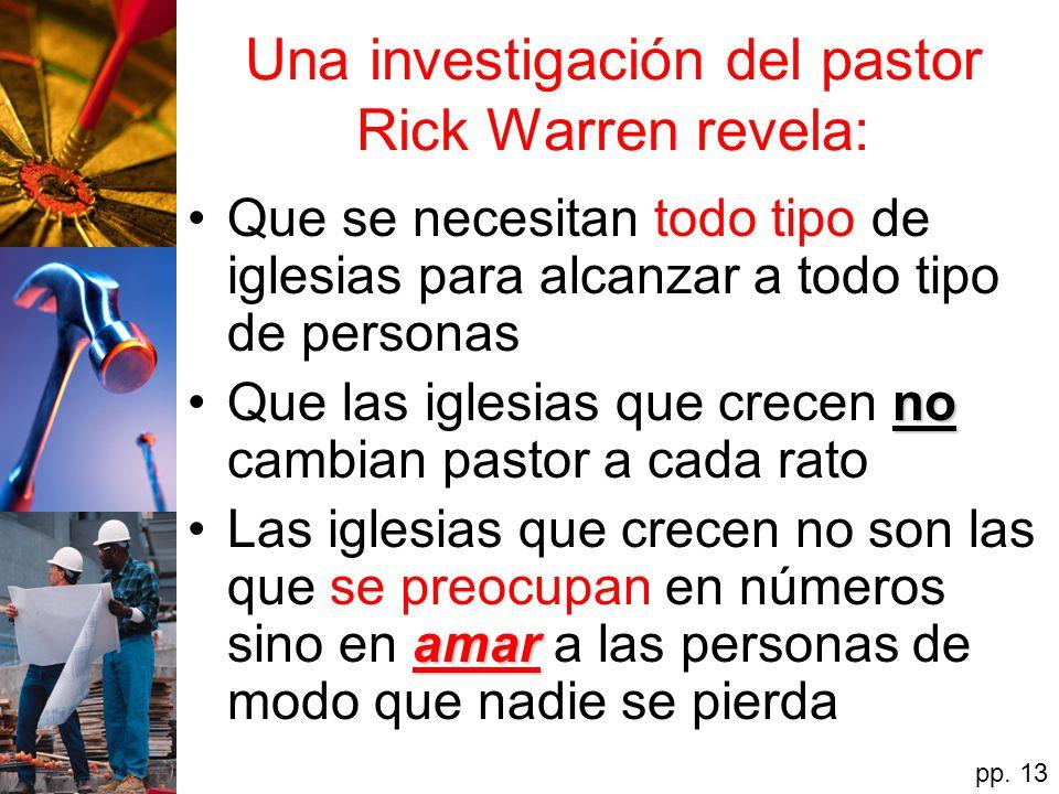 Una investigación del pastor Rick Warren revela: