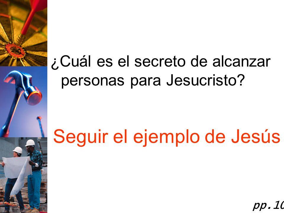 Seguir el ejemplo de Jesús