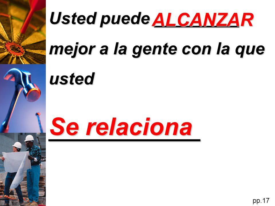 Se relaciona ____________ ALCANZAR
