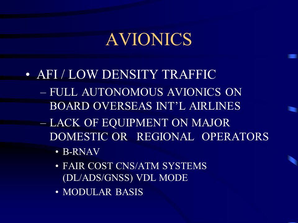 AVIONICS AFI / LOW DENSITY TRAFFIC