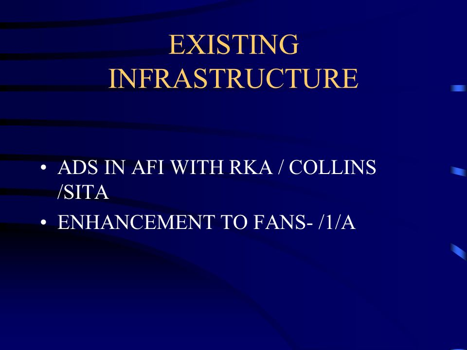 EXISTING INFRASTRUCTURE