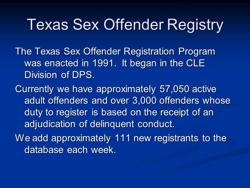 in texas sex offender requirements