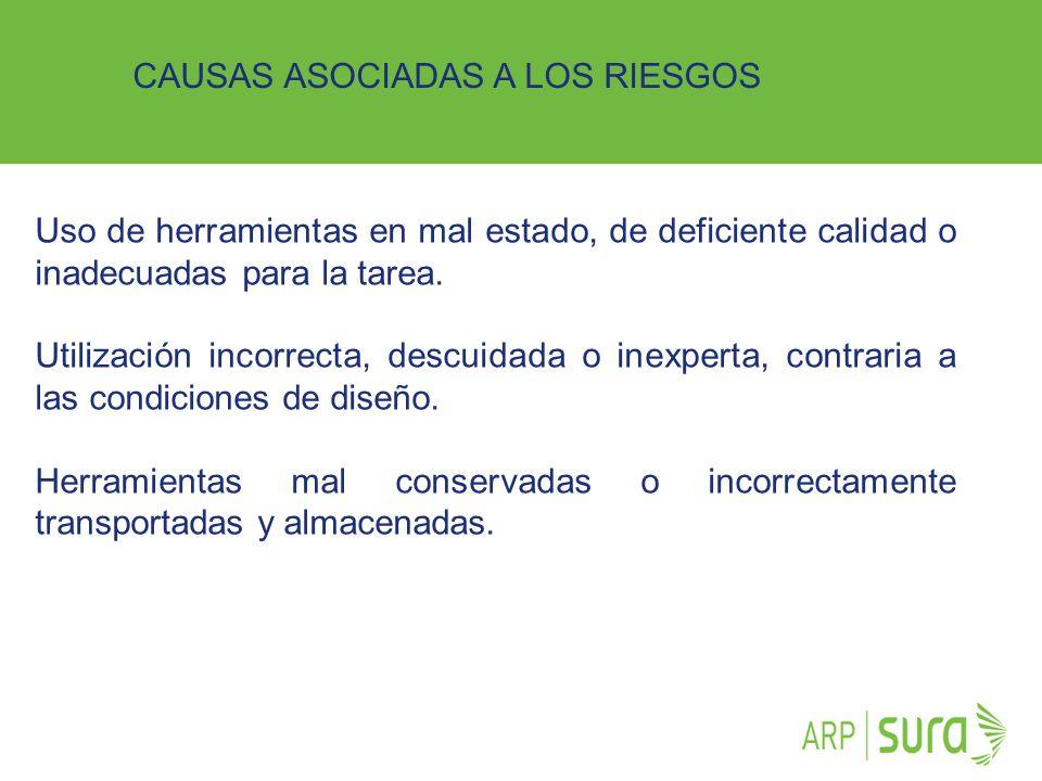 CAUSAS ASOCIADAS A LOS RIESGOS