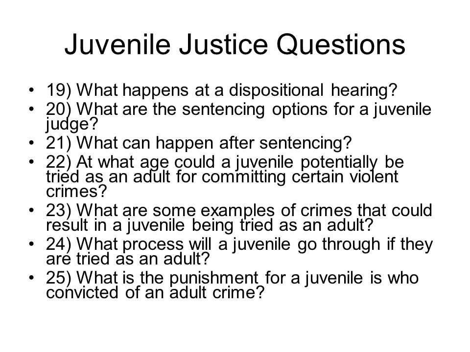 juvenile justice system should they be Overall, 30 percent reported they had been physically or sexually abused,   students come out of the juvenile justice system in worse shape than when they.