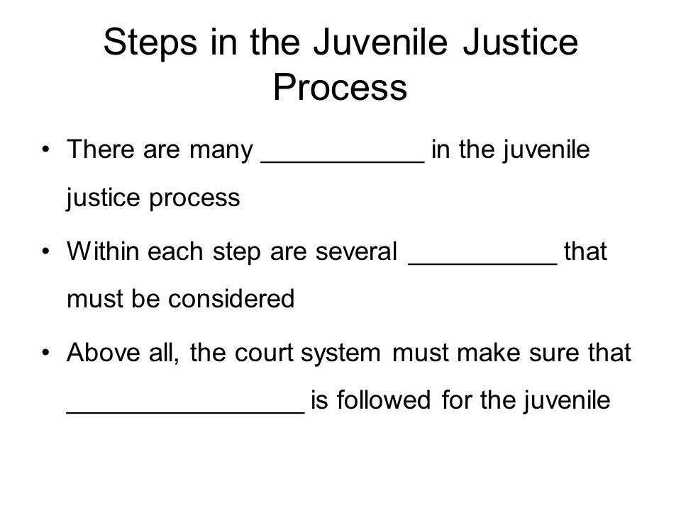 Chapter 11: THE HISTORY AND DEVELOPMENT OF JUVENILE JUSTICE - ppt ...
