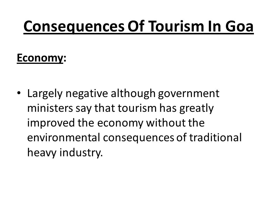 tourism industry in goa pdf