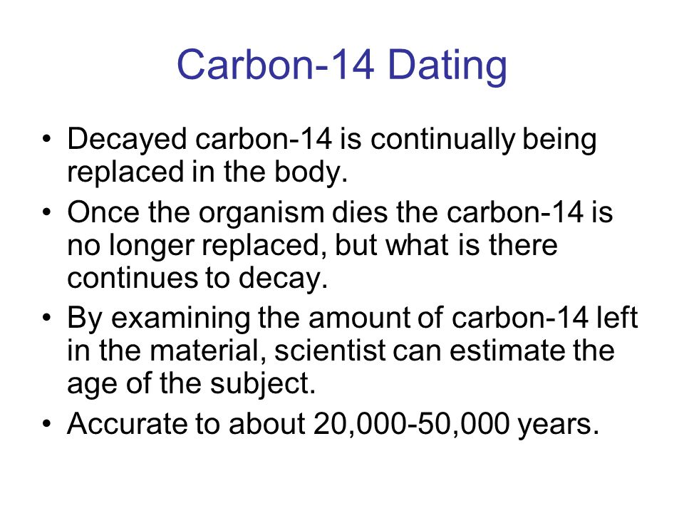 Carbon dating problems solutions - ITD World