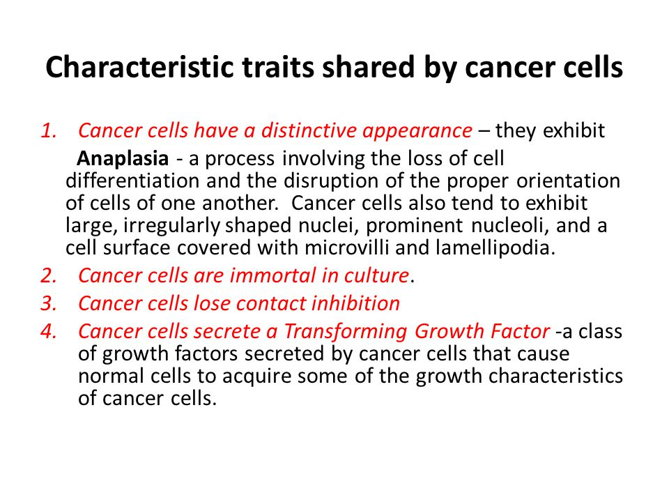 an overview of the characteristics of cancer a deadly disease There are five stages of colon cancer, designated from 0 to 4, which not only characterize the severity of the disease but help direct the course of treatment stage 3 colon cancer is largely defined by the characteristics of the tumor and the spread of cancer from the original (primary) tumor to nearby lymph nodes.