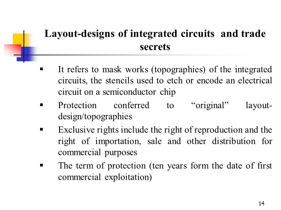 Layout-designs of integrated circuits and trade secrets
