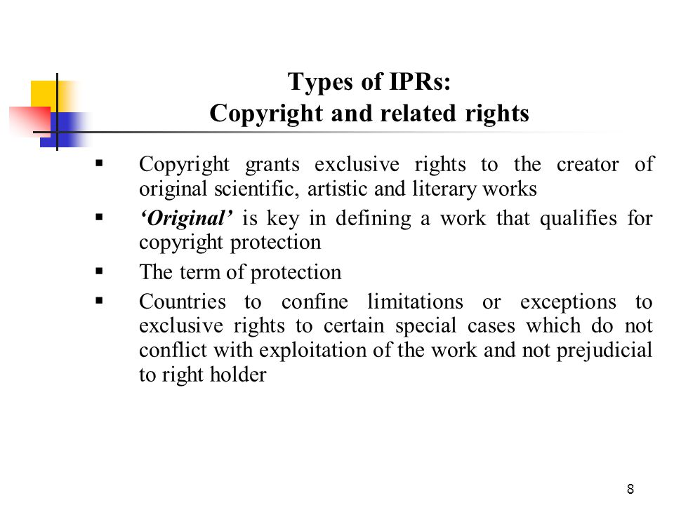 Types of IPRs: Copyright and related rights